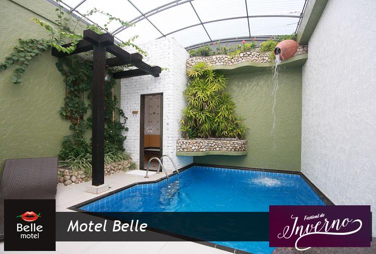 Festival de Inverno no Motel Belle: 35% off em suítes com piscina aquecida!