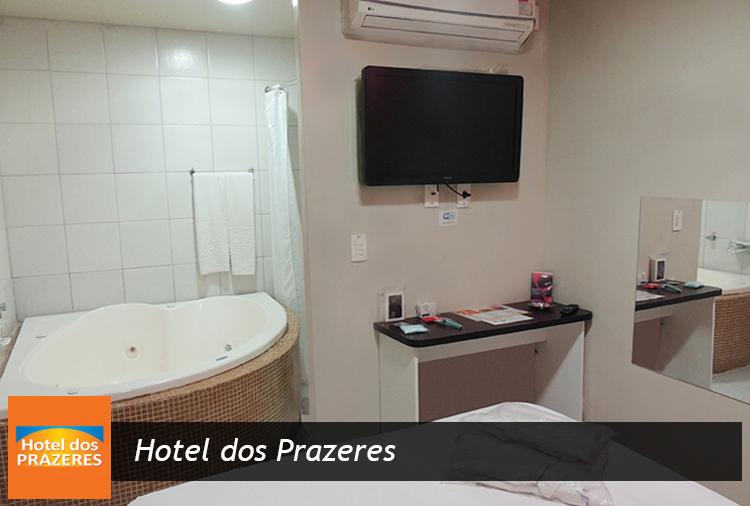 Hotel dos Prazeres: Período de 3 horas na suíte com hidro casal, todos os dias + 2 bebidas por R$ 55!