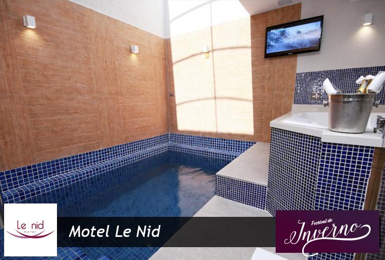 Motel Le Nid: 3h ou 12h em suítes com piscina aquecida e hidro!