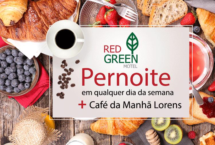 Love Pack no Red Green! Pernoite com Café a partir de R$ 63,92!