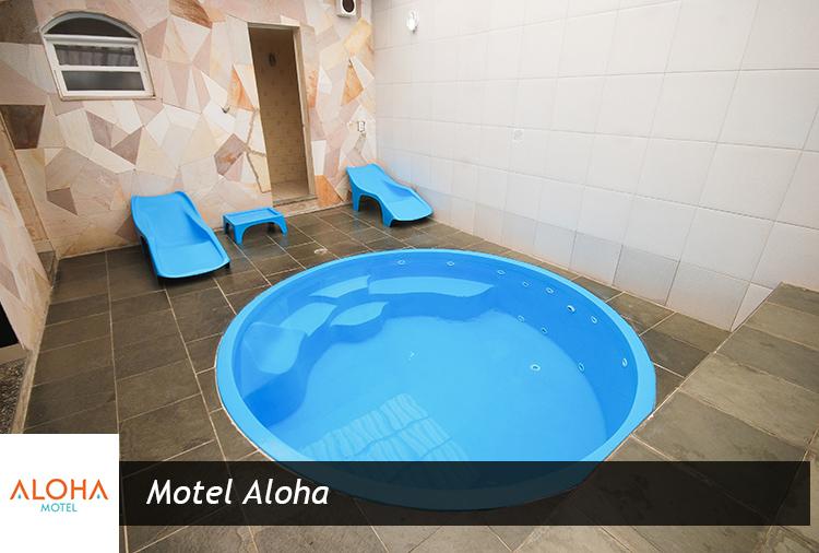 Motel Aloha: Suíte com piscina aquecida e teto solar a partir de R$ 110,00!