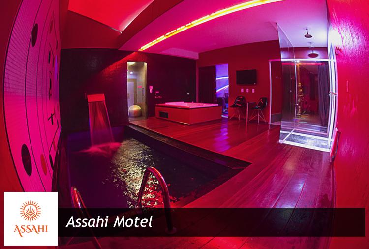 Curta 4h no Assahi Motel! Suítes com pole dance, hidro ou piscina!
