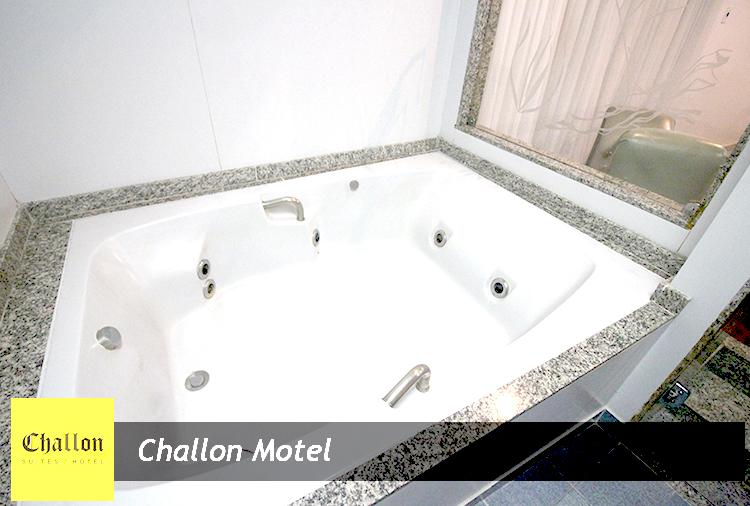 Período de 3h ou Pernoite em Suítes com Hidro no Challon Motel! Aproveite, vale todos os dias!