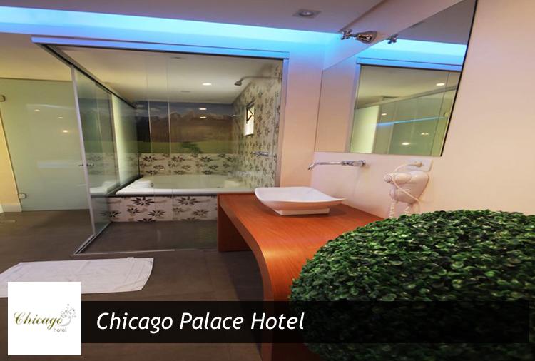 Período de 3h por R$ 63 em suíte com Hidro no Chicago Palace!
