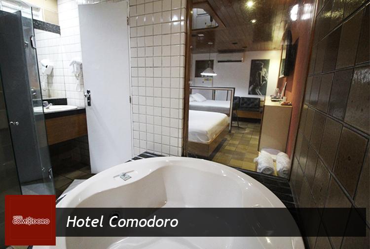 Suítes por R$ 79,20 no Hotel Comodoro. Aproveite as opções com hidro!