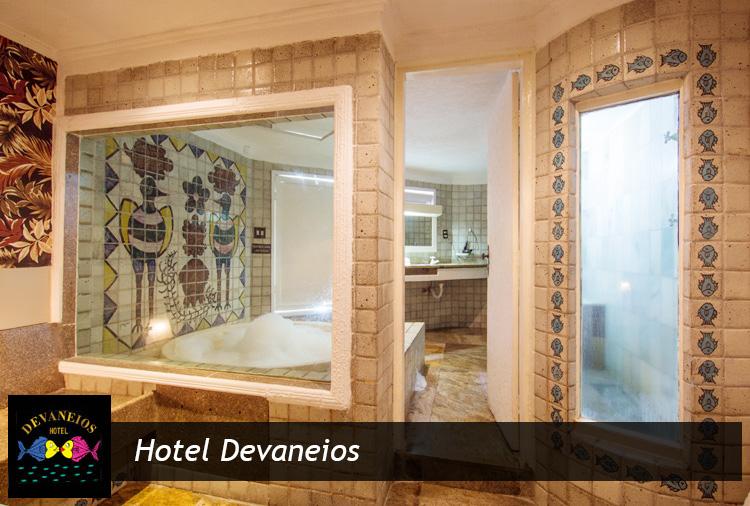 Hotel Devaneios: 4 horas na Suíte Grandes Devaneios ou Nova Tropical. Aproveite: opção com hidromassagem!