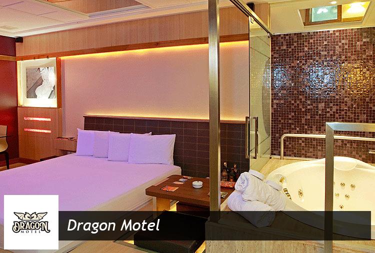 4 horas nas suítes do Dragon! Opções com hidro, sauna ou piscina!