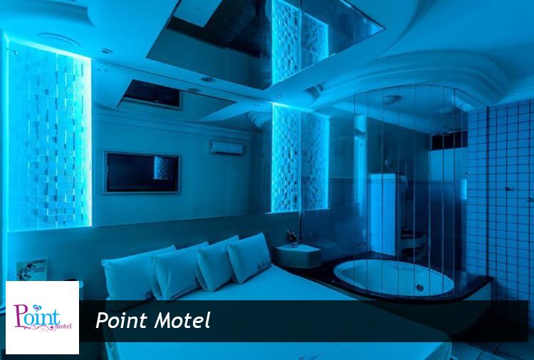 Suítes a partir de R$ 54,60 no Point Motel. Opções com hidro ou piscina!