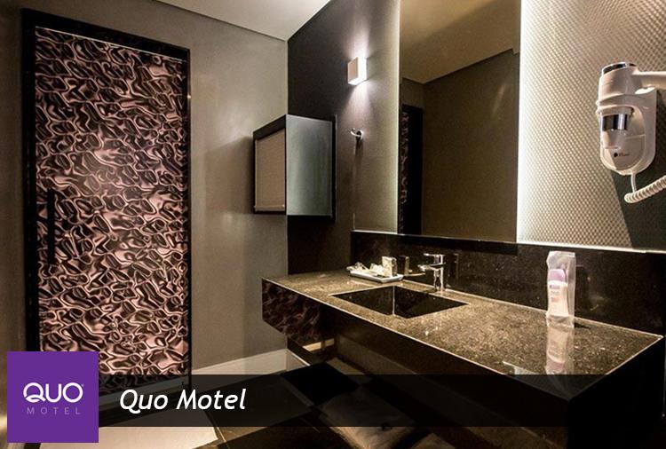 Período de 3h e 12h com 35% de desconto no Quo Motel!